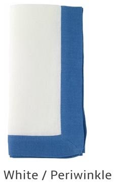 Bodrum   Orta White Periwinkle Set of 6 Linen Napkins $120.00