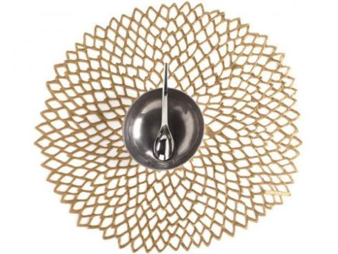 Chilewich  Dahlia Dahlia Brass Table Mat $10.00