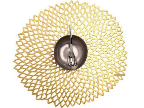 Chilewich  Dahlia Dahlia Gold Table Mat $10.00