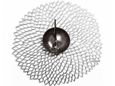 $10.00 Dahlia Silver Table Mat
