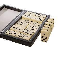 Domino Set - Black Croc