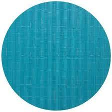 Chilewich  Bamboo Teal Round Mat $15.75