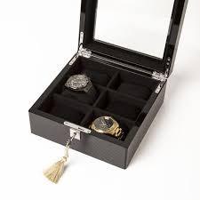 $130.00 Carbon Fiber 6 Slot Watch Box