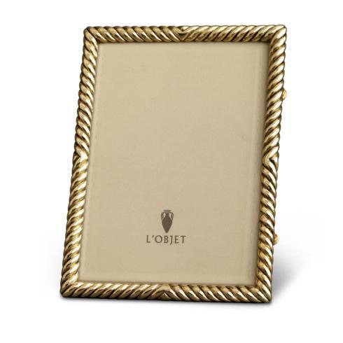 L'Objet  Frames Deco Twist Gold 8x10 Frame $250.00