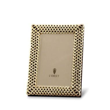 L'Objet  Frames Braid 4x6 Gold Frame $165.00