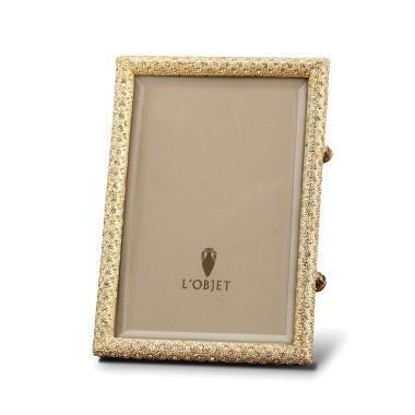 L'Objet  Frames Rectangular Paved Gold 5x7 Frame $295.00