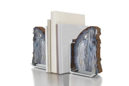 $295.00 Fim Bookends Agate Gray