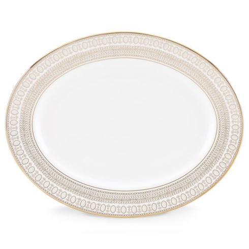 Gilded Pearl Oval Platter