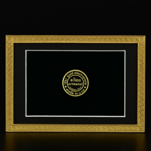Elias Artmetal   Greek Key Gold 4x6 Frame $108.00