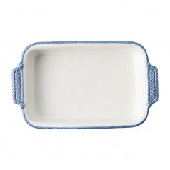 BC Clark Exclusives   Le Panier Blue Rectangular Baker $98.00