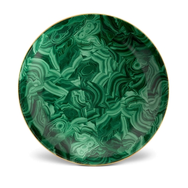 L'Objet   Malachite Round Platter $550.00