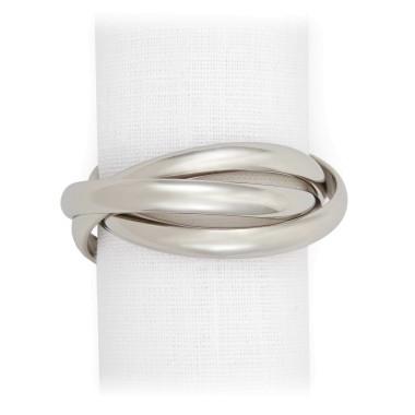 L'Objet  Napkin Rings Three Ring Platinum set/4 $150.00