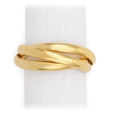 L'Objet  Napkin Rings Three Ring Gold  $150.00