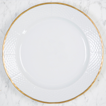 "Sasha Nicholas  Weave 24k Gold 12"" Charger/Dinner Plate  $68.00"