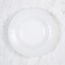 Sasha Nicholas  Weave White Rim Soup Bowl $26.00