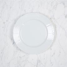 Sasha Nicholas  Weave White Salad Plate $20.00