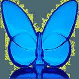 Baccarat  Butterflies Lucky Butterfly Sapphire Blue $140.00