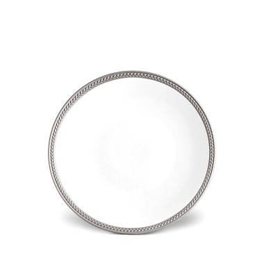 L'Objet   Soie Tressee Platinum Dessert Plate $66.00