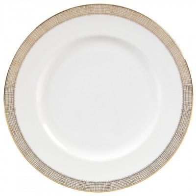 Vera Wang  Gilded Weave Gold Dinner Plate $35.00