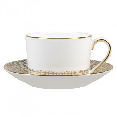 Vera Wang  Gilded Weave Gold Tea Cup $35.00