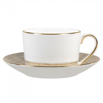 Vera Wang  Gilded Weave Gold Tea Saucer $19.00