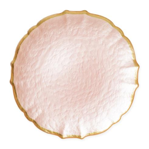 BC Clark Exclusives   Viva Pastel Glass Pink Charger Plates $34.00