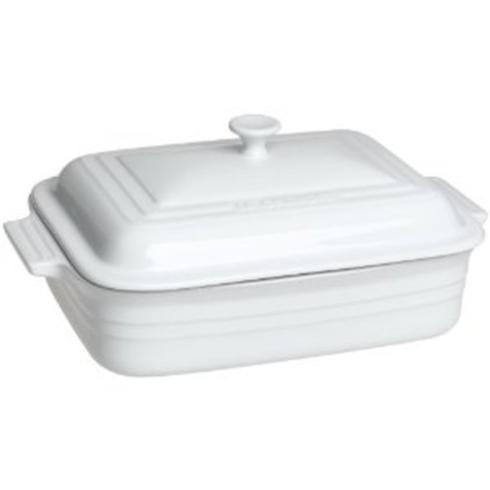 Le Creuset  White Covered Rect 4.5 Casserole White $100.00