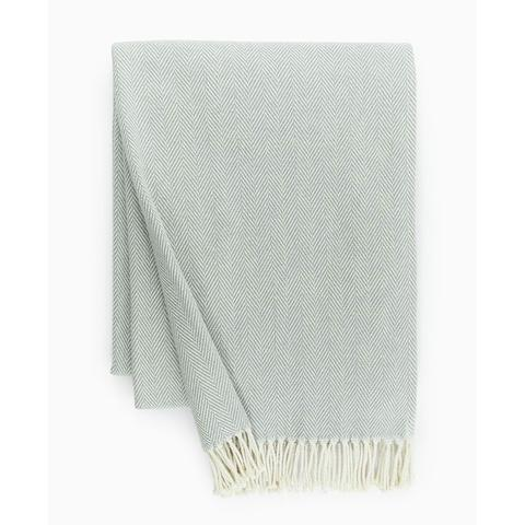 SFERRA   CELINE COTTON THROW  SLATE BLUE $89.00