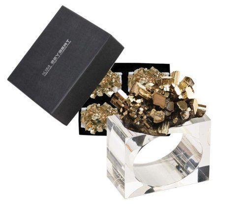 Kim Seybert  Napkin Rings  GEODE GOLD NAPKIN RINGS S/4 $93.00