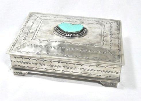 Breed & Co. Exclusives  Miscellaneous  STAMPED BOX TURQ $218.00