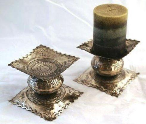 Breed & Co. Exclusives  Miscellaneous  STAMPED SHORT CANDLESTICK PAIR $145.00