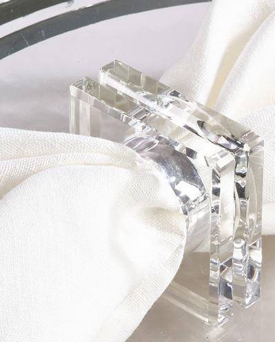 Saro Designs  Napkin Rings CRYSTAL NRING $10.00