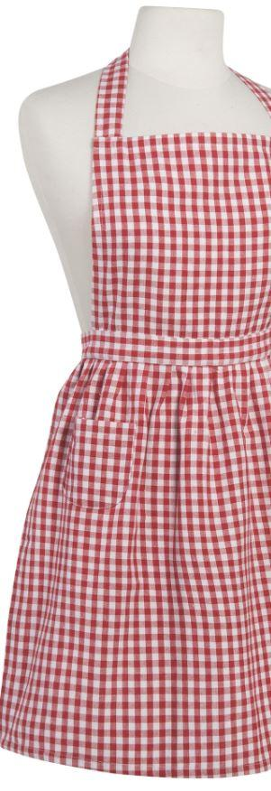 Now Designs  Kitchen Accessories GINGHAM RED APRON $20.00