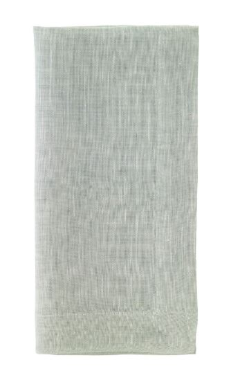 Bodrum  Placemats  Chambray Mint Napkin $17.00