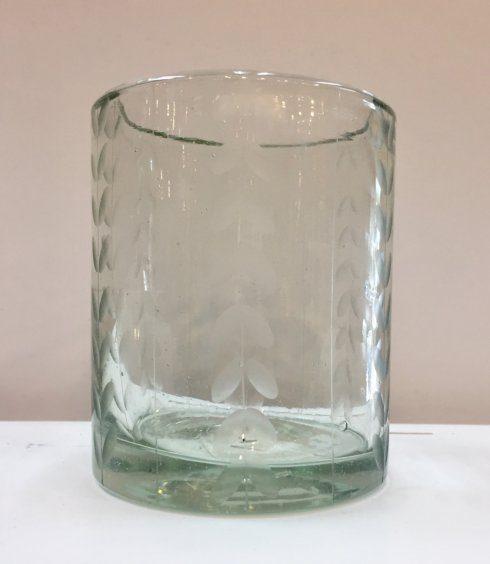 Rose Ann Hall Designs   Herringbone DOF Patterned Glass $17.00