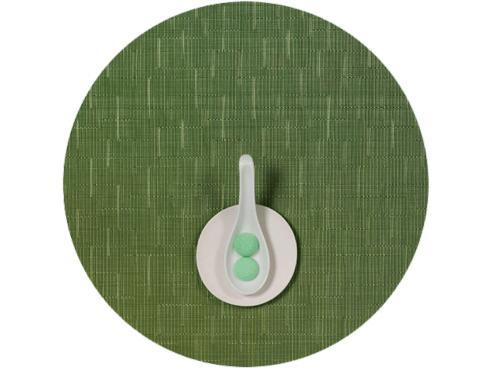 Chilewich  Bamboo  Lawn Green Bamboo Round Placemat $16.25