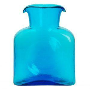Blenko Glass Co   Turquoise Water Bottle Pitcher $53.00