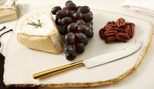 Two's Company  Serving Pieces  Marble Cheese Plate w/ Knife $68.00