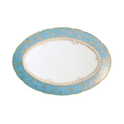 Bernardaud  Eden Eden Turquoise Oval Platter 15