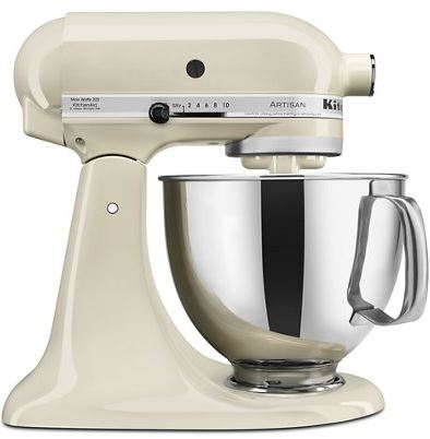 $349.95 5 QT Artisan Mixer Almond Cream