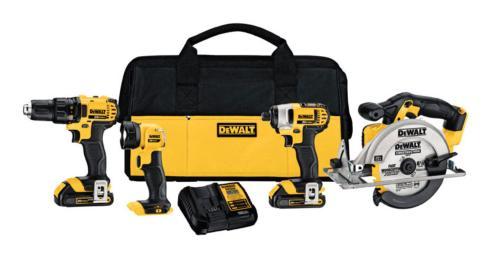 Ace  Dewalt 20 V Max Cordless Combo Kit  (4 Tools) $419.99