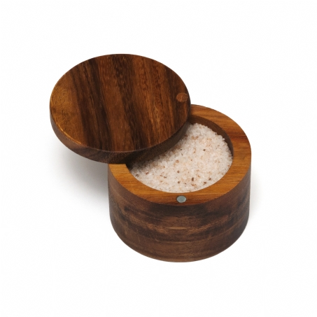 Breed & Co. Exclusives   Lipper Acacia Spice Box Swivel Cover $16.00