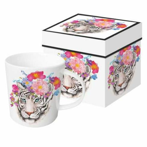 Breed & Co. Exclusives   Paperproducts Flora Tiger Gift-Boxed Mug $14.95