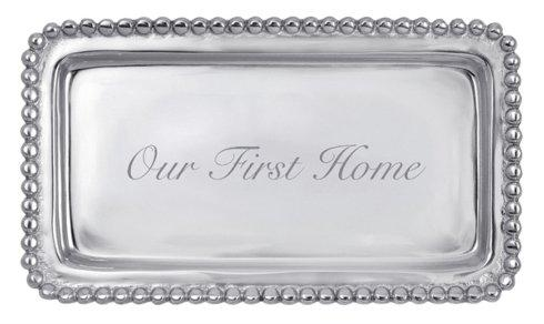 Breed & Co. Exclusives  Kitchen  OUR FIRST HOME BEADED TRAY $39.00