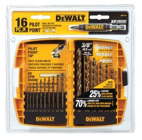Ace  Dewalt Dewalt Drill Bit Set- 16 piece $27.99