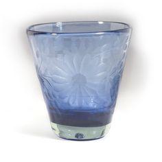 Rose Ann Hall Designs  Condessa Blue Blue Engraved Italian Wine $17.00