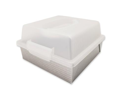 "$29.99 9"" Square Cake Pan with Lid"