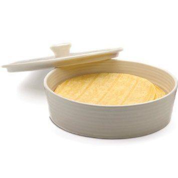 RSVP International  Kitchen Helpers Stoneware Tortilla Warmer White $25.95