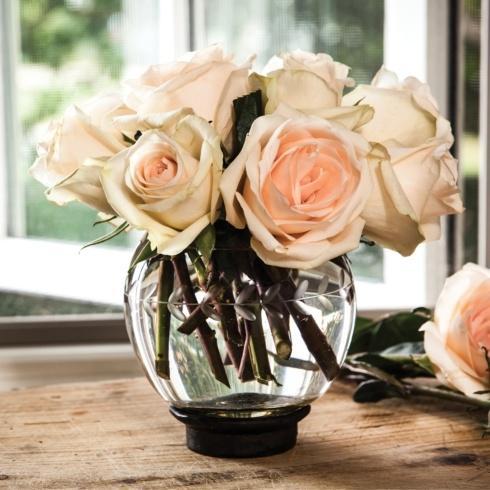Jan Barboglio  Vases ROSA FLORERO WITH PEPITA ETCH $125.00