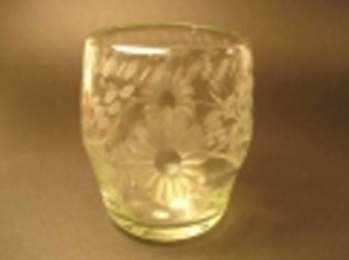 Rose Ann Hall Designs  Condessa Clear Clear Engraved Stemless Wine $17.00